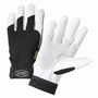 West Chester Large Black Ironcat® Goatskin Full Finger Mechanics Gloves With Hook And Loop Cuff