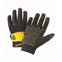 West Chester X-Large Black And Yellow Pro Series® Synthetic Leather Full Finger Mechanics Gloves With Hook And Loop Cuff