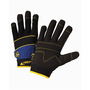 West Chester Large Black Pro Series® Synthetic Leather Full Finger Mechanics Gloves With Hook And Loop Cuff