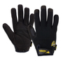 West Chester Size 2X Black Job 1® Synthetic Leather Full Finger Mechanics Gloves With Hook And Loop Cuff