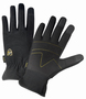 West Chester Large Black Pro Series® Synthetic Leather Full Finger Mechanics Gloves With Elastic Cuff