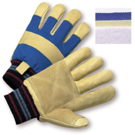 PIP® Small Blue Pigskin Foam Lined Cold Weather Gloves