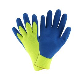 West Chester Large Hi-Viz Green And Blue Latex Acrylic Lined Cold Weather Gloves