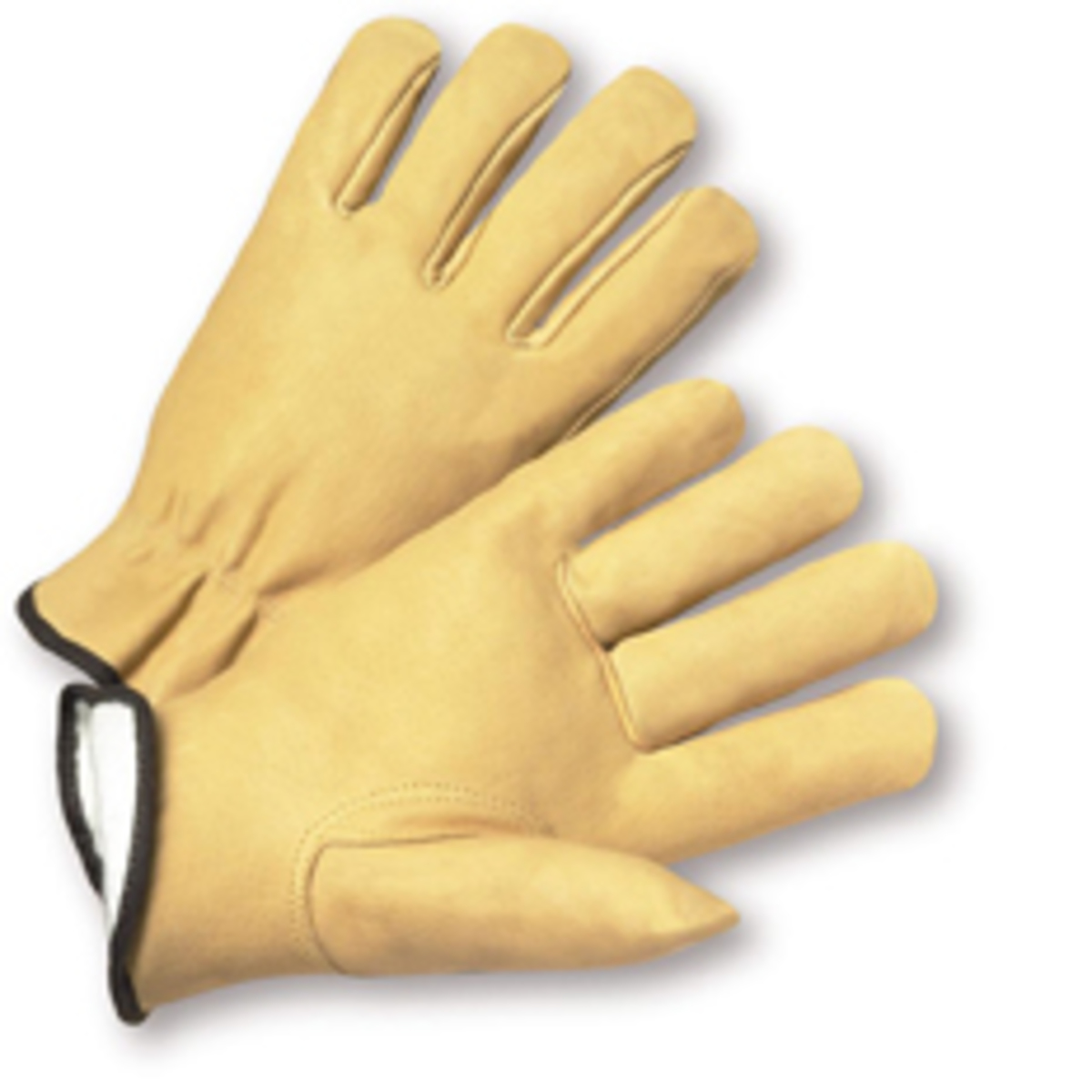 Thinsulate leather driving gloves - West Chester 2x Tan Premium Grain Pigskin Thinsulate Lined Gunn Cut Drivers Cold Weather Gloves