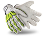 HexArmor Size 9 Leather Impact 4080 SuperFabric Palm Cut Resistant Gloves With IR-X Impact Exoskeleton Coated Back-Of-Hand