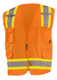 OccuNomix Large Hi-Viz Orange 100% ANSI Tricot Polyester Two-Tone Vest