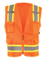 OccuNomix 4X Hi-Viz Orange 100% ANSI Polyester/Mesh Two-Tone Vest