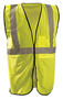OccuNomix Small - Medium Hi-Viz Yellow 100% ANSI Polyester/Mesh Standard Vest