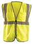 OccuNomix Small - Medium Hi-Viz Yellow 100% ANSI Polyester/Mesh Surveyor Vest