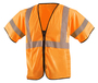 OccuNomix Small - Medium Hi-Viz Orange 100% ANSI Polyester/Mesh Standard Vest