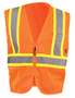 OccuNomix Large Hi-Viz Orange 100% ANSI Polyester/Mesh Two-Tone Vest