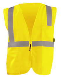 OccuNomix Medium Hi-Viz Yellow Polyester Vest