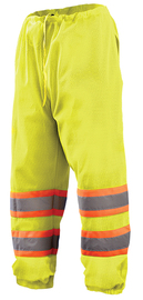 OccuNomix Small - Medium Hi-Viz Yellow Mesh/Polyester Pants