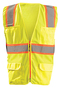 OccuNomix Medium Hi-Viz Yellow 100% ANSI Tricot Polyester Vest