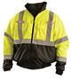 OccuNomix Medium Hi-Viz Yellow Polyester Bomber Jacket