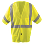OccuNomix Medium - Large Hi-Viz Yellow Mesh/Polyester Break-Away Vest