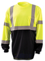 OccuNomix Large Hi-Viz Yellow 3.8 Ounce Wicking Birdseye Polyester Black Bottom T-Shirt