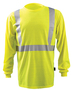 OccuNomix Medium Hi-Viz Yellow 7.75 Ounce 100% Modacrylic/Polyester/Cotton Long Sleeve T-Shirt