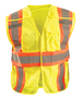 OccuNomix Medium - Large Hi-Viz Yellow 100% ANSI Polyester/Mesh Expandable Break-Away Vest