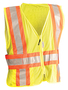 OccuNomix Medium - Large Hi-Viz Yellow 100% ANSI Polyester/Mesh Expandable Vest