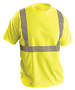 OccuNomix X-Large Hi-Viz Yellow 100% Wicking Birdseye Polyester T-Shirt