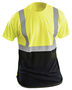 OccuNomix X-Large Hi-Viz Yellow 100% Wicking Birdseye Polyester Black Bottom T-Shirt