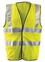 OccuNomix Medium Hi-Viz Yellow Aramid/Mesh/Modacrylic Flame Resistant Vest