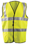 OccuNomix Medium Hi-Viz Yellow Aramid/Modacrylic Flame Resistant Vest