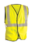 OccuNomix Medium Hi-Viz Yellow 100% ANSI 107 Flame Resistant Modacrylic/Aramid Solid Vest