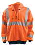 OccuNomix Small Hi-Viz Orange 100% ANSI Polyester/Fleece Hoodie Sweatshirt