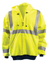 OccuNomix Medium Hi-Viz Yellow 100% ANSI Polyester/Fleece Hoodie Sweatshirt