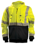 OccuNomix X-Large Hi-Viz Yellow 100% ANSI Polyester/Fleece Black Bottom Sweatshirt