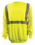 OccuNomix 4X Hi-Viz Yellow 100% ANSI Polyester/Fleece Crew Neck Sweatshirt