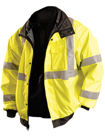 OccuNomix X-Large Hi-Viz Yellow 300D 100% Polyester Jacket