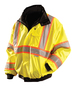 OccuNomix Medium Hi-Viz Yellow 300D 100% Polyester Two-Tone Jacket
