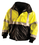 OccuNomix Medium Hi-Viz Yellow 300D 100% Polyester Black Bottom Jacket