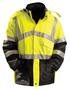 OccuNomix Medium Hi-Viz Yellow 300D 100% Polyester Insulated Black Bottom Parka