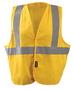 OccuNomix Large - X-Large Hi-Viz Yellow And Yellow Classic™ Cotton Vest With Hook And Loop Closure