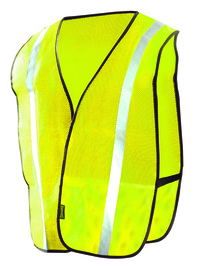 OccuNomix X-Large Hi-Viz Yellow And Yellow Mesh Vest With Front Hook And Loop Closure