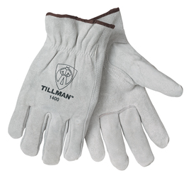 Tillman® Medium Pearl Standard Split Grain Cowhide Unlined Drivers Gloves