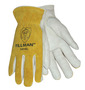Tillman® Small Pearl And Bourbon Split Grain/Top Grain Cowhide Unlined Drivers Gloves