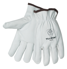 Tillman® Medium Pearl Premium Top Grain Goatskin Unlined Drivers Gloves