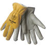 Tillman® Medium Pearl And Bourbon Split Grain/Top Grain Cowhide Cotton Lined Drivers Gloves With DuPont™ Kevlar® Stitching