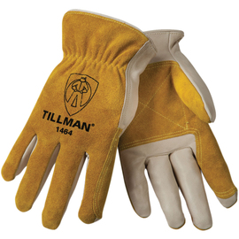 Tillman® Medium Pearl And Bourbon Split Grain/Top Grain Cowhide Unlined Drivers Gloves With DuPont™ Kevlar® Stitching