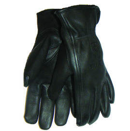 Tillman® Medium Black Top Grain Deerskin Unlined Drivers Gloves