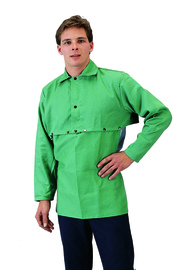 Tillman™ Small Green Cotton FR-7A® Westex® Cape Sleeve With Velcro® Fasteners Closure