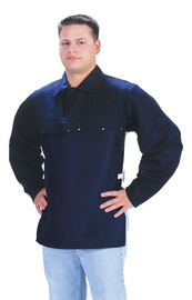 Tillman™ Size 3X Navy Blue Cotton FR-7A® Westex® Cape Sleeve With Snap Fasteners Closure