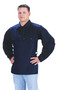 Tillman™ X-Large Navy Blue Cotton FR-7A® Westex® Cape Sleeve With Snap Fasteners Closure