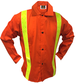 Tillman® 2X Orange Cotton FR-7A® Westex® Jacket With Snap Front Closure