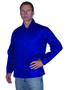 Tillman™ Size 2X Navy Blue Cotton Indura® Sateen Jacket With Snap Front Closure